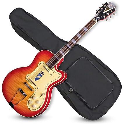 Kay Reissue K161VCS - Guitarra eléctrica con funda (fina, doble ...
