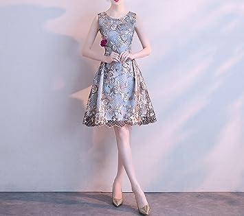 MOM Vestido de Dama de Honor 2018 Corto Delgado Vestido de Fiesta de Verano Vestido de