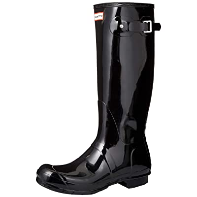HUNTER Womens Original Adjustable Back Gloss Rain Snow Wellington Boot | Knee-High