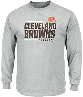 590d36961a1 Cleveland Browns NFL Mens Majestic Line of Scrimmage Long Sleeve Shirt Gray Big  Sizes