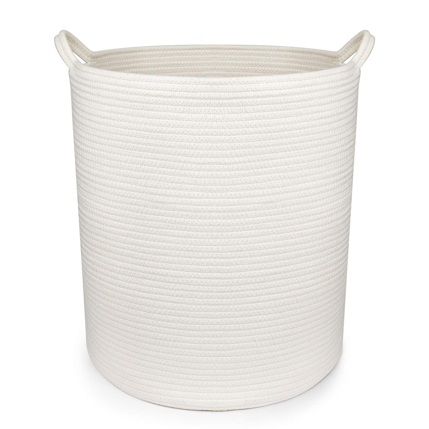 18'' x 16'' Extra Large Storage Baskets Cotton Rope Woven Nursery Bins,Off White (XL) by DUUMI