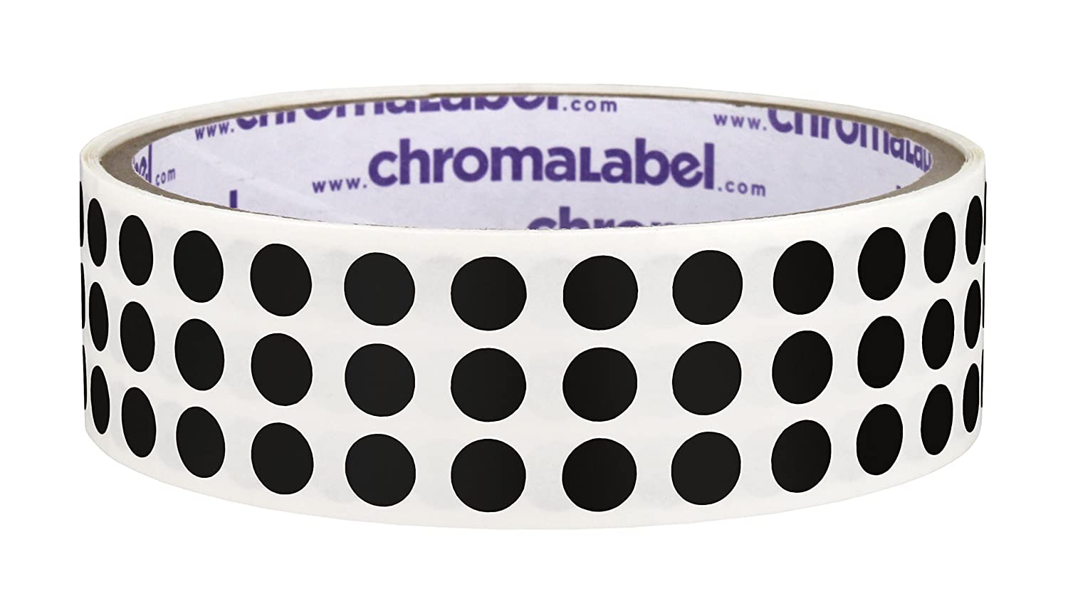 ChromaLabel 1/4 inch Color-Code Dot Labels | 1,000/Roll (Black)