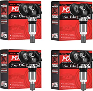 AUTEL 315MHz MX-Sensor Programmable Universal TPMS Sensor Metal Stem Set Of 4