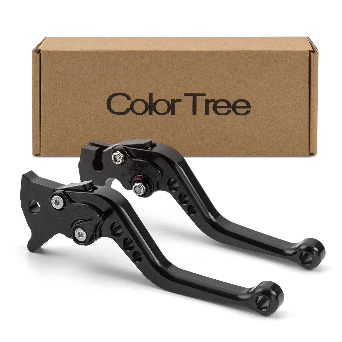 color tree Motorcycle Short Adjustable Billet Brake Clutch CNC Levers fit for Triumph SPEEDMASTER/AMERICA/LT/SCRAMBLER 06-16,TIGER 1050/Sport 07-16,SPRINT GT 11-15