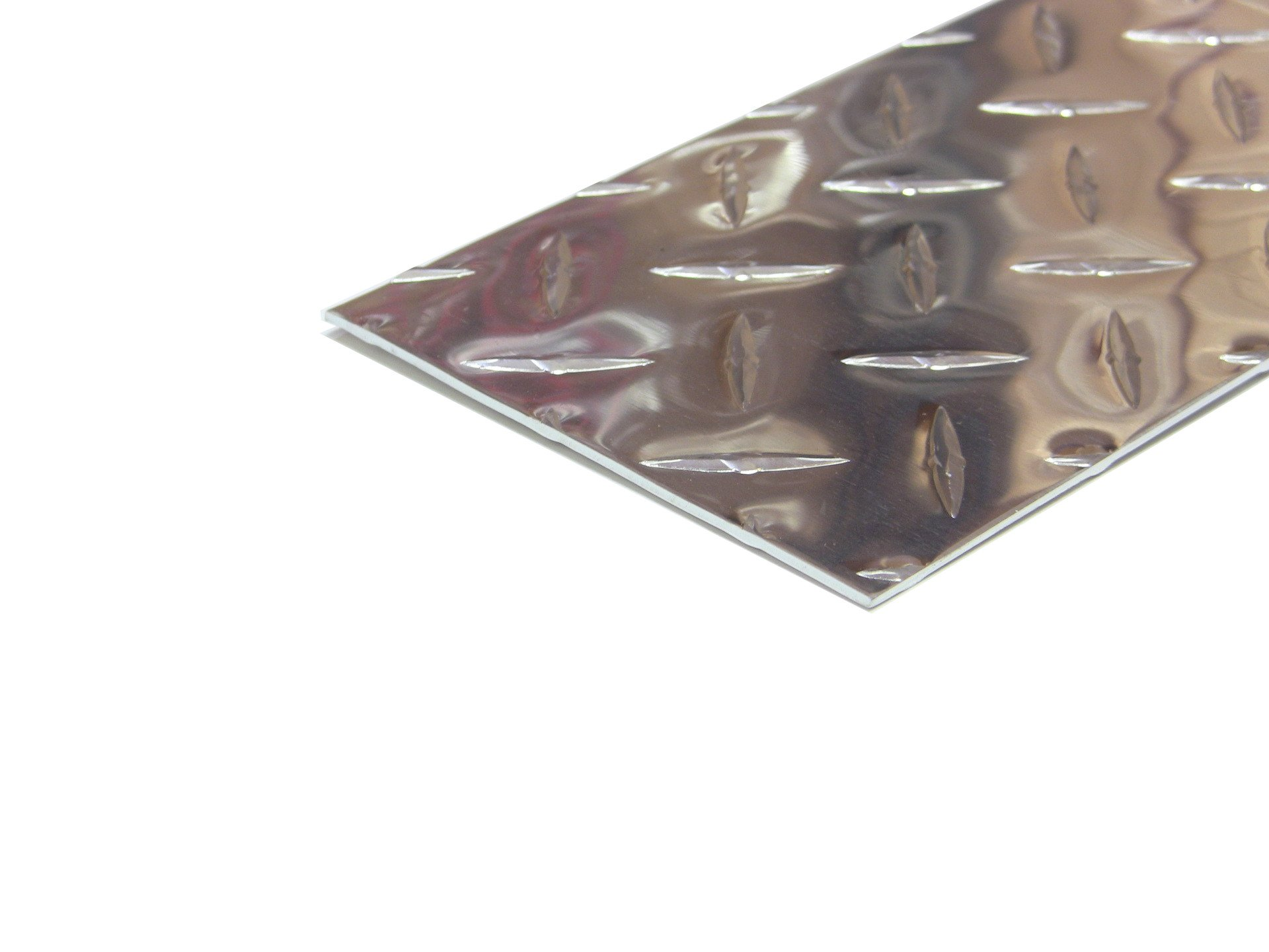Aluminum Diamond Plate Door Kick Plate .062 x 4 x 30 in. w/out screws and holes   Kickplate (1/16 x 4 x 30 in.) UAAC