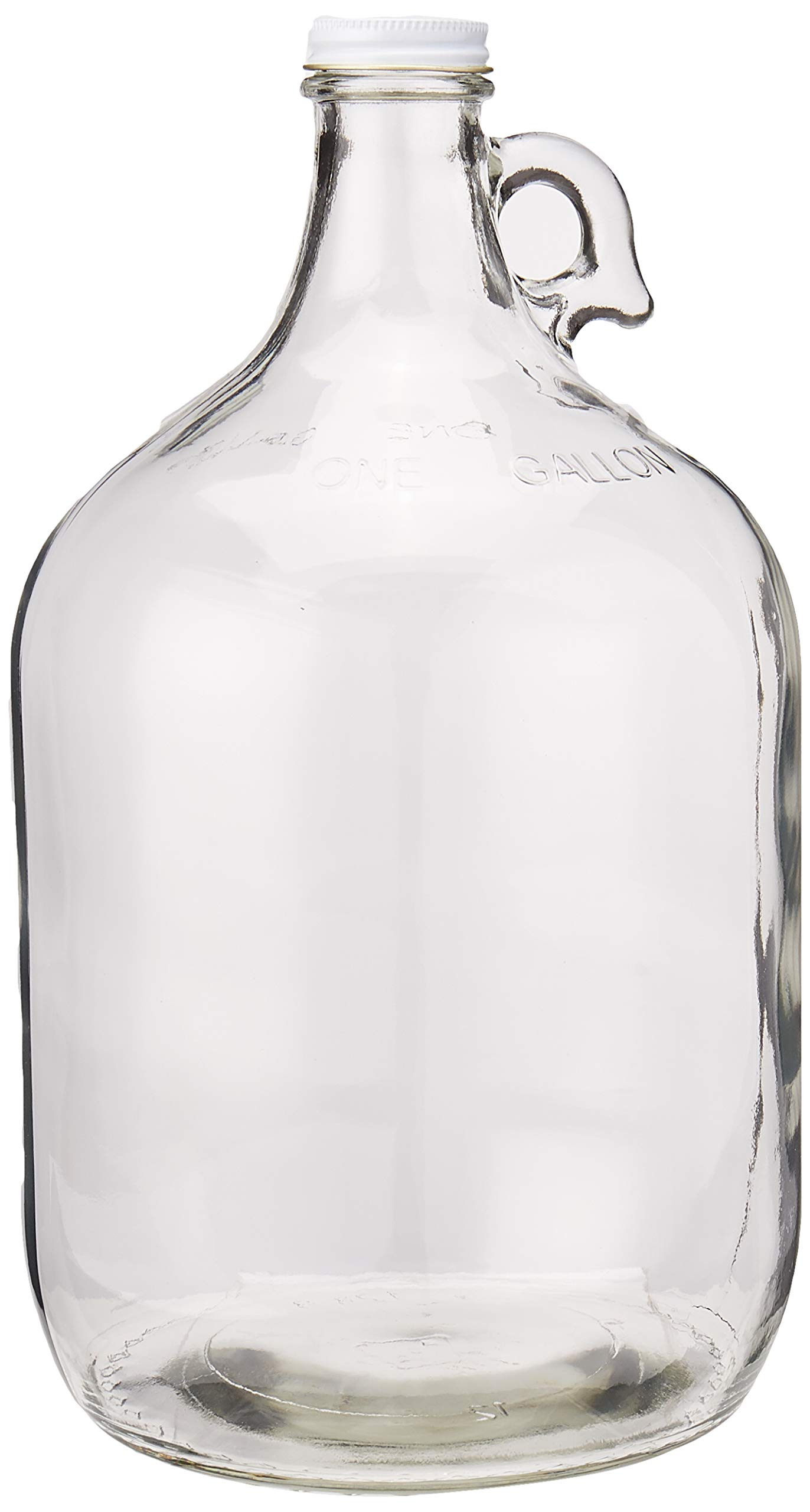 Home Brew Ohio Glass Water Bottle Includes 38 mm Metal Screw Cap, 1 gallon Capacity by Home Brew Ohio