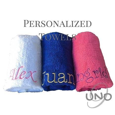 Toalla de playa bordada personalizada para dama de honor, regalo de bachelorette, monograma de novia Bachelorette: Amazon.es: Hogar