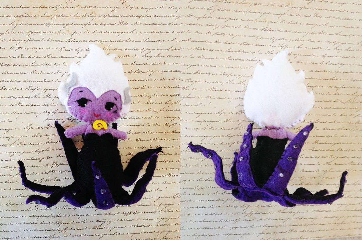 Handmade Felt Doll Sea Witch