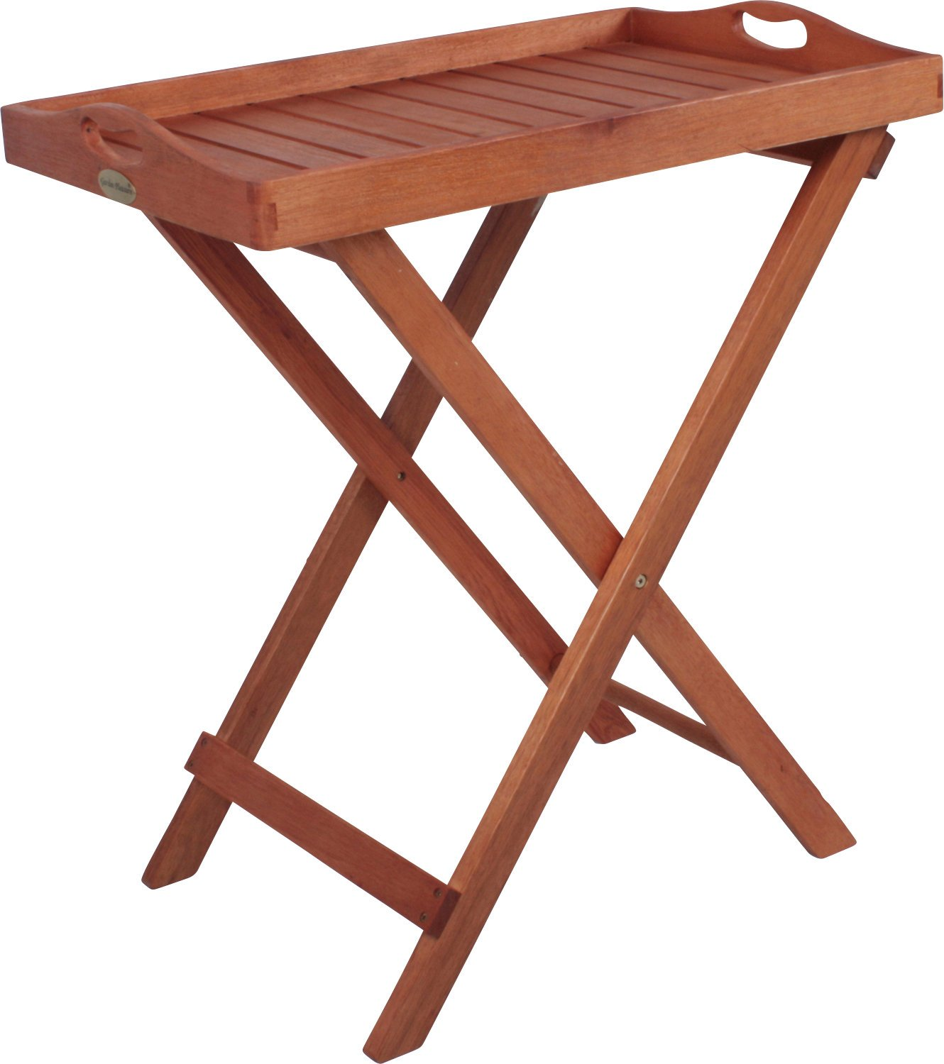 tray stand folding tray table coffee table garden table oiled dallas amazoncouk garden outdoors
