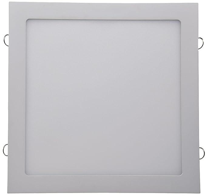 LED Licht-Panel Wand Decke Einbau I Eckig 12-30 cm I 230V I 6-24W I inkl. Trafo I 12mm flach I Lichtfarbe wählbar (warmweiß,
