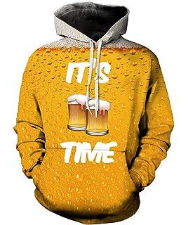 Rave on Friday Sweat à Capuche 3D Fantaisie Imprimé Sweat-Shirts Drawstring  Pulls Hoodies Manches 5a9bbd5c6b49