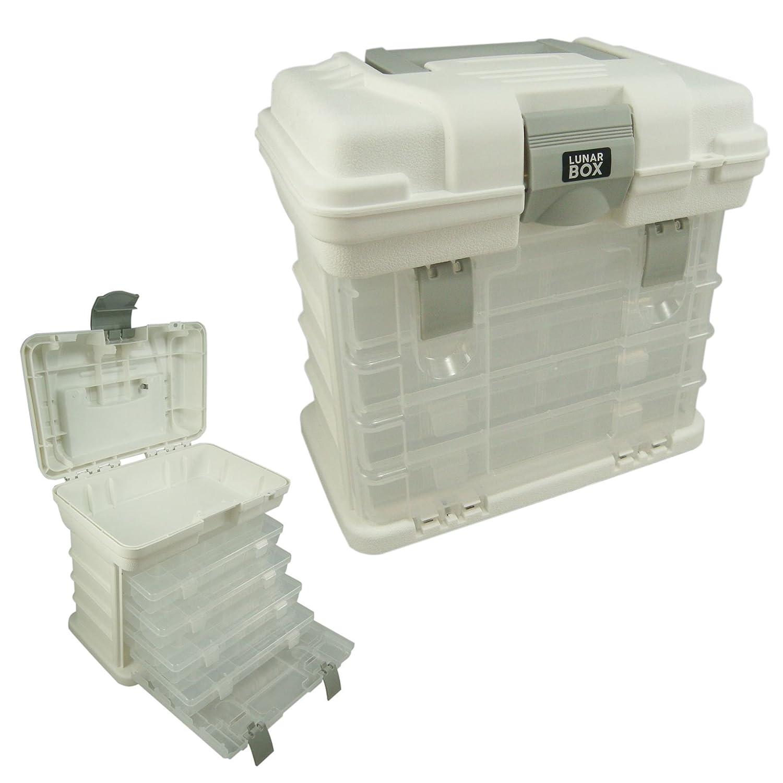 Storage Carry Case With 4 Adjustable Compartment Storage Boxes Arts Crafts u0026 sewing Box Lunar Box ® Amazon.co.uk Kitchen u0026 Home  sc 1 st  Amazon UK & Storage Carry Case With 4 Adjustable Compartment Storage Boxes Arts ...