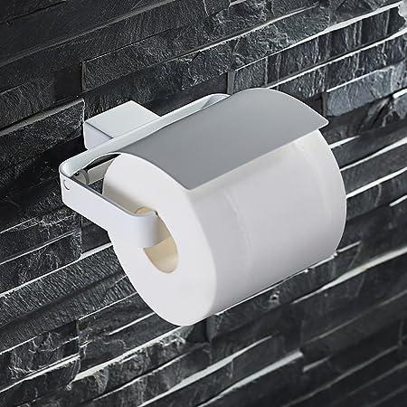 HOMELODY Portarrollo papel higi/énico con rodillo de acero inoxidable Soporte de papel cepillado Para Papel Higi/énico Bandeja De Papel Higi/énico ba/ño SS 304 Acero Inoxidable