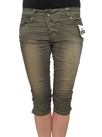 fbabbfd6a3678e Buena Vista Damen Jeans Malibu Krempel Shorts Bermuda Hose Capri Denim  (S-36