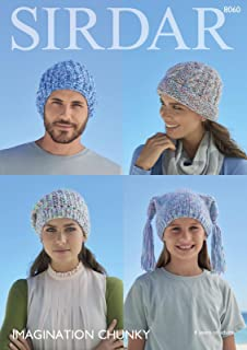 16f334a3c3b5b Sirdar 8060 Knitting Pattern Family Accessories Hats in Sirdar Imagination  Chunky