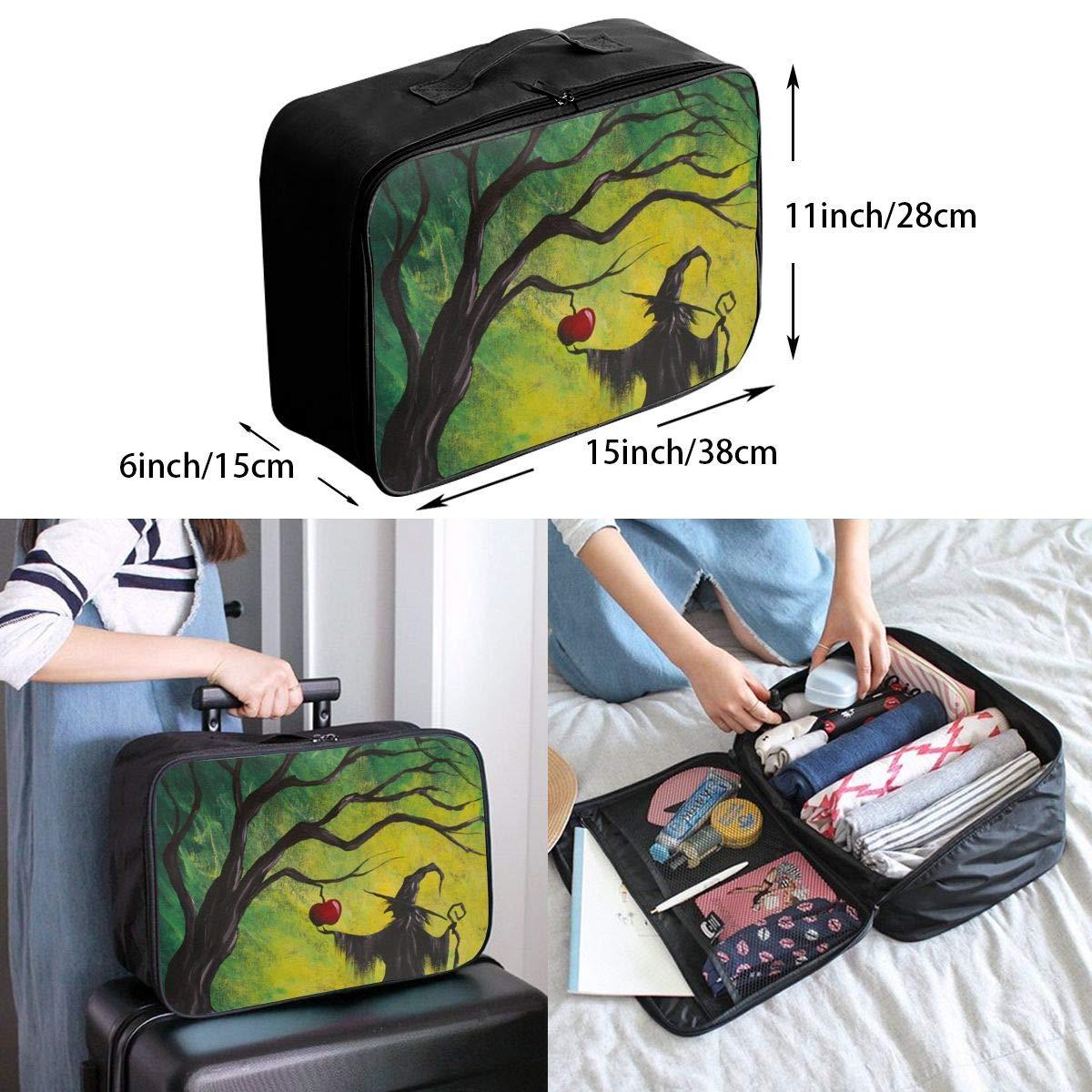 Travel Luggage Duffle Bag Lightweight Portable Handbag Wizard Print Large Capacity Waterproof Foldable Storage Tote