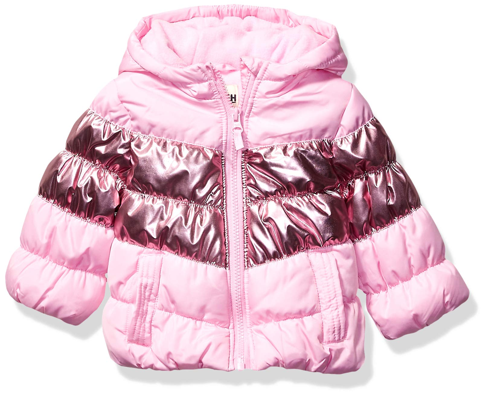 OshKosh B'Gosh Baby Girls Perfect Puffer Jacket, Pink Metallic, 18Mo by OshKosh B'Gosh