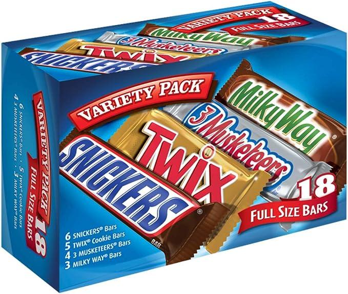 MARS Chocolate Singles Size Candy Bars Variety Pack 33.31-Ounce 18-Count Box: Amazon.es: Alimentación y bebidas