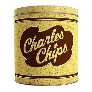 Charles Chips Waffle Chip tin