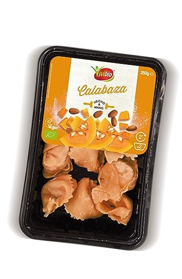 Pasta fresca rellena de calabaza y almendras caramelizadas vegan - 250 gr