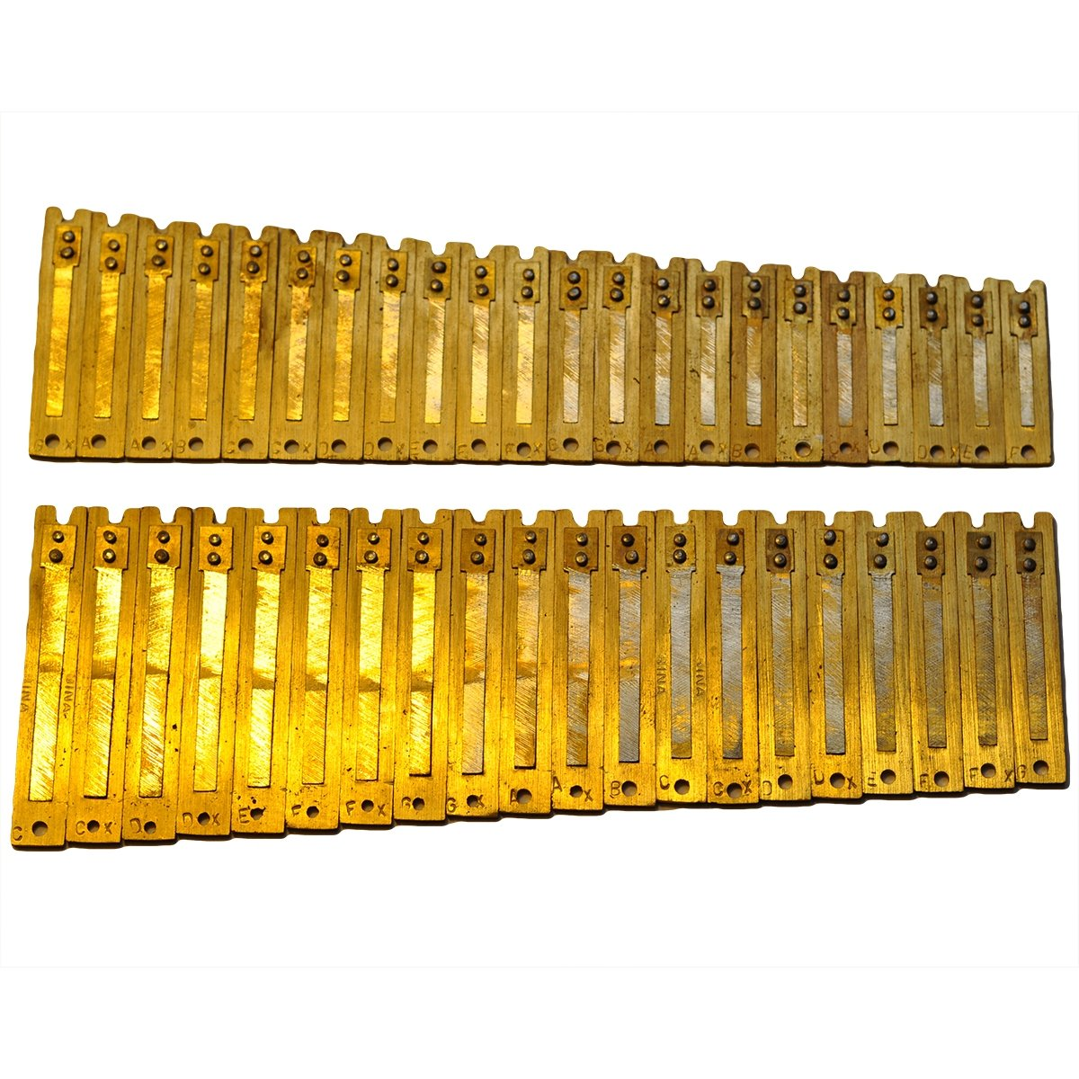 Harmonium Reeds - 3.5 Octave Bass Set for Delhi harmoniums BHAVA Harmonium Co. Punjabi Bass Reeds