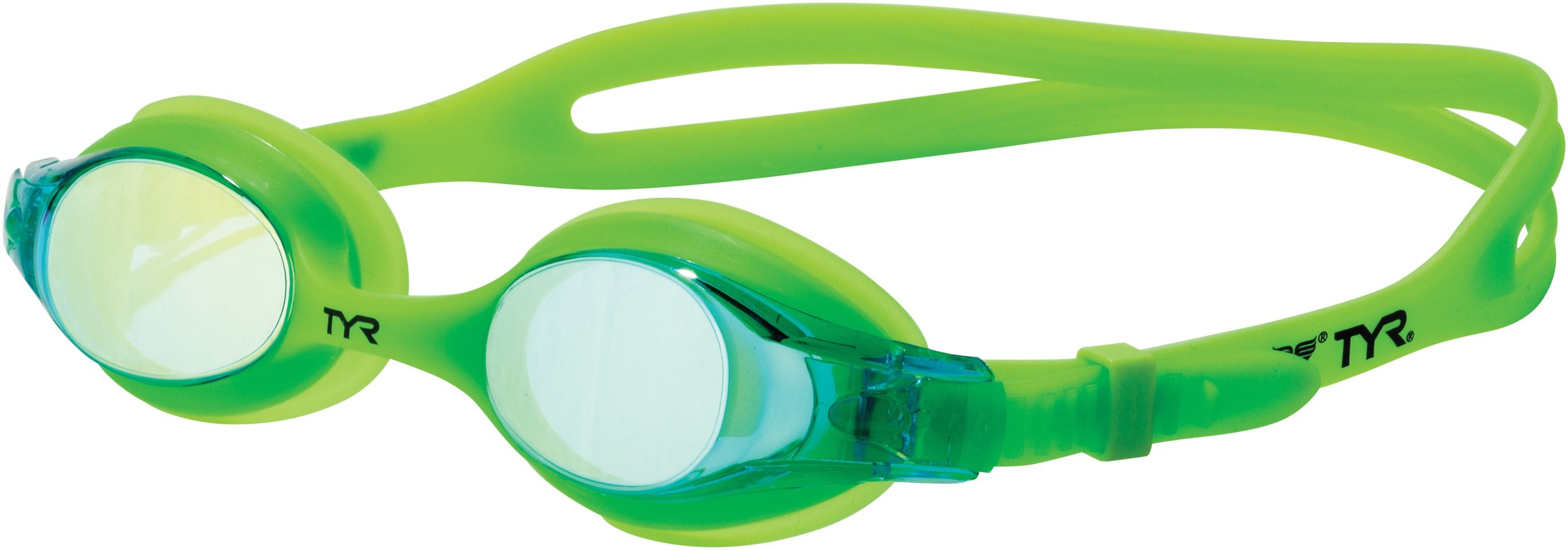 TYR Swimple Youth Metallized Goggle (Electric Lime)