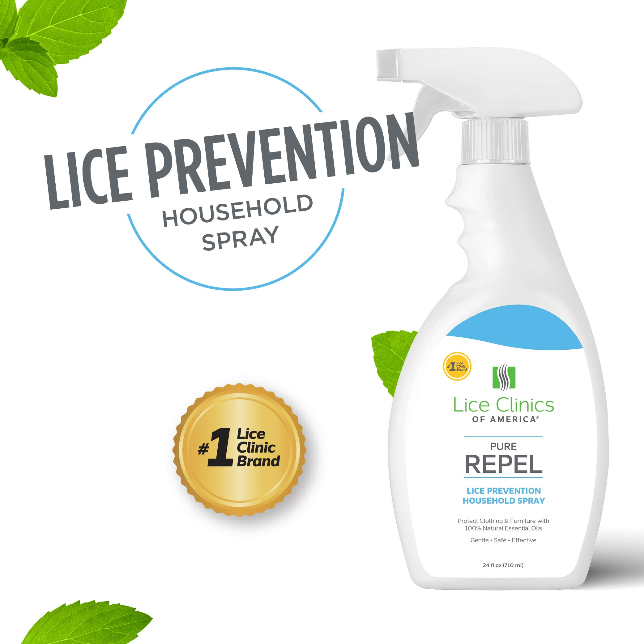 Lice Clinics of America Lice Prevention Household Spray - Keep Lice Away from Clothing, Furniture, and More! by Lice Clinics of America