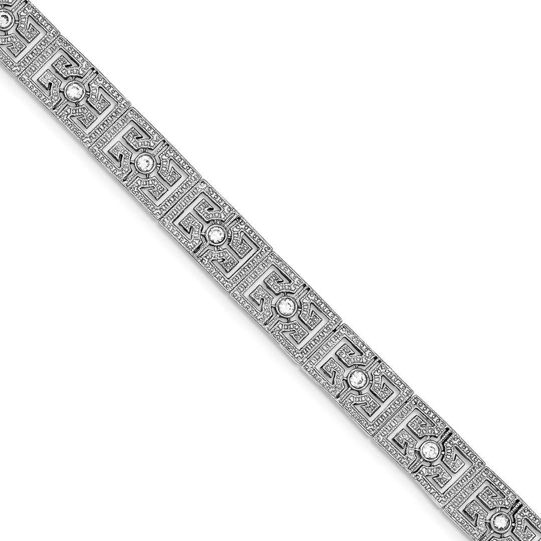 ICE CARATS 925 Sterling Silver Vintage Style Cubic Zirconia Cz Bracelet 7 Inch Fine Jewelry Ideal Mothers Day Gifts For Mom Women Gift Set From Heart