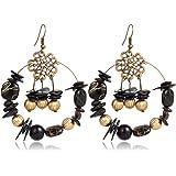 Crunchy Fashion Jewellery Gold Plated Stylish Leaves Earrings for Girls Fancy Party Wear Earrings for Women