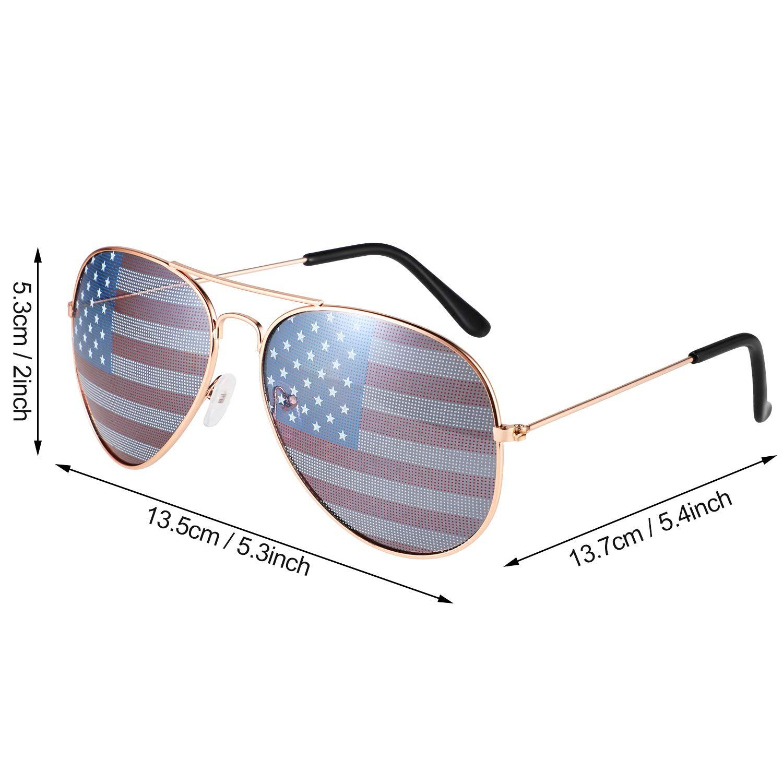 Amazon.com: 6 pares de gafas de sol de la bandera de los ...