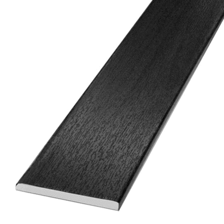 Window and Door Architrave Plastic Trim Black Ash 65mm - 5 Metre Transtools