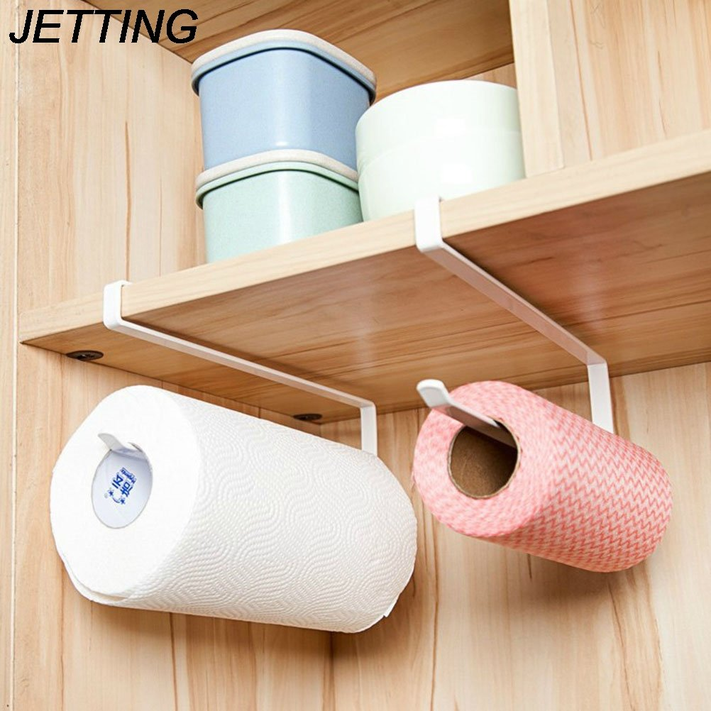 Lavenz Kitchen Paper Holder Hanger Tissue Roll Towel Rack Bathroom Toilet Sink Door Hanging Organizer Storage Hook Holder