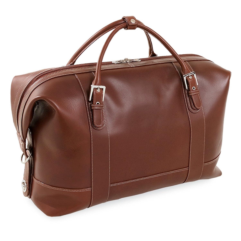 Siamod Amore Leather Duffel Bag Cognac