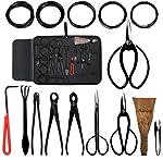 Aonepro Bonsai Tool Kit 10PCS Set Carbon Steel Shear Cutter Scissor
