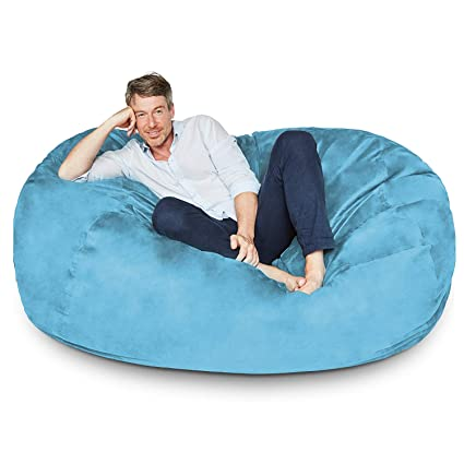 Awe Inspiring Extra Large 6 Fuf Comfort Suede Bean Bag Cover Only By Ink Craft Aqua Blue Beatyapartments Chair Design Images Beatyapartmentscom