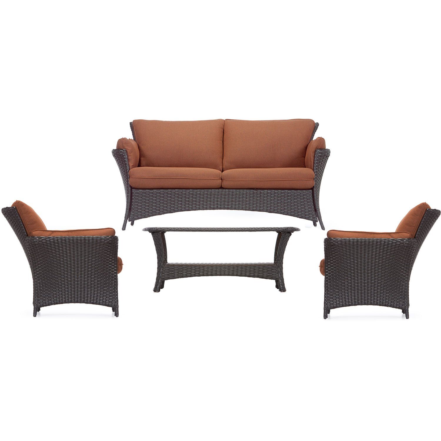 Amazon.com : Hanover Strathmere Allure 4 Piece Lounging Set : Garden U0026  Outdoor