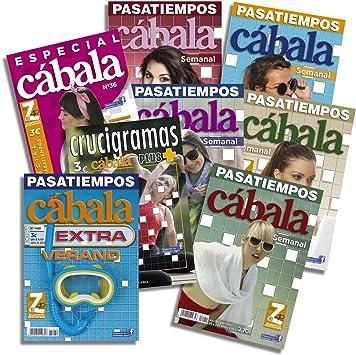 DataPrice Pack de 8 Libros de Pasatiempos Cábala. Crucigramas para Adultos Variados. - Ed. Zugarto -.: Amazon.es: Juguetes y juegos
