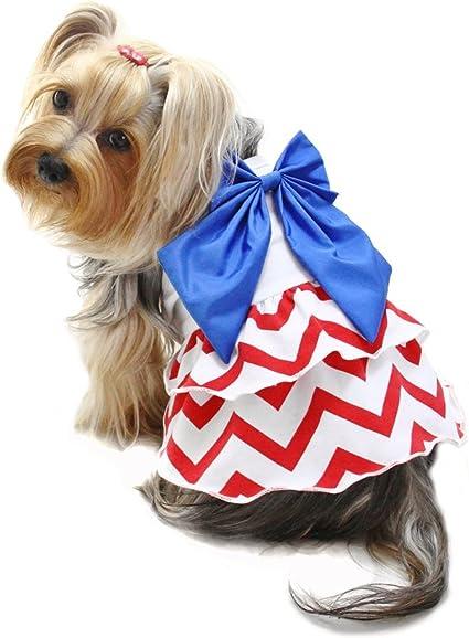 Patriotic Pup Dog Bow