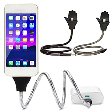 uk availability 5a31a 57d82 Flexible Stand Holder Metal Micro USB Charging Cable Car Dock For ...