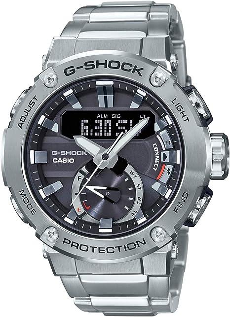 Casio GST-B200D-1AER Relógio Masculino em Fibra de Carbono Prateado