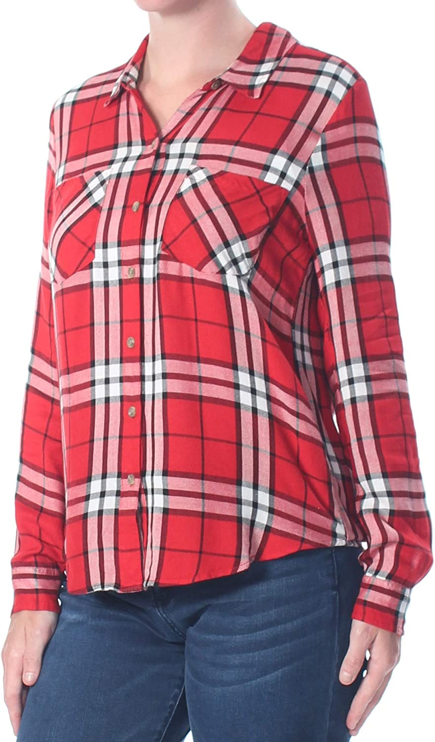 Lucky Max 76% OFF Brand Women's Button Shirt Side Plaid Dealing full price reduction