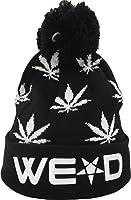 YCMI Winter Warm Mickey Hands Letter Kush Weed Marijuana Beanies Hat Skully