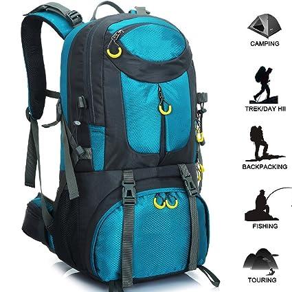 5e05aee45b89 Amazon.com: ZZW Outdoor Waterproof Riding Backpack, 50L Wear ...