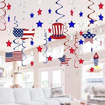 America Banner Felt Garland 4th of July Banner Patriotic 4th of July Garland America Garland