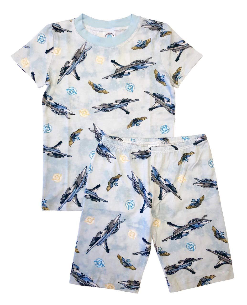 Esme Boys Pajamas Short Sleeve Top Shorts Set 8 Jet