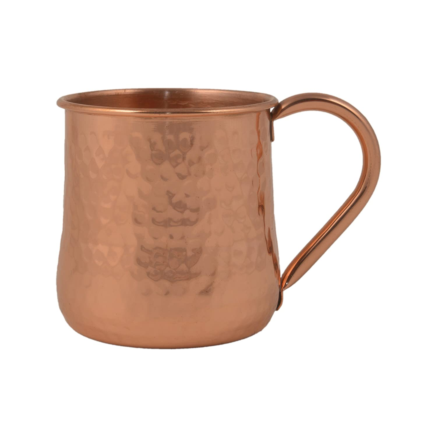 GoCraft Hammered Copper Beer Mug | Concave Design Moscow Mule Mug (16 oz)