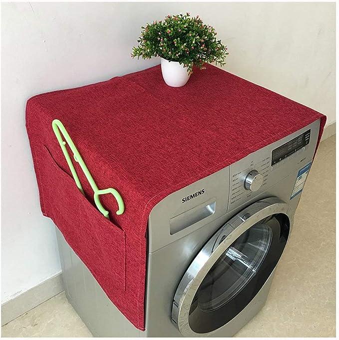 YMYP08 Lavadora refrigerador Cubierta de Polvo paño, Color sólido ...