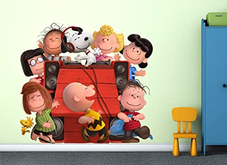 DJ Snoopy u0026 Peanuts Gang Wall Decal & Amazon.com: DJ Snoopy u0026 Peanuts Gang Wall Decal: Home u0026 Kitchen