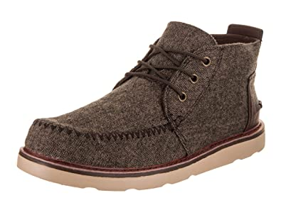 c7ea2ee4d7c Image Unavailable. Image not available for. Color  TOMS Men s Chukka Boot Chocolate  Brown Brushed Wool Boot