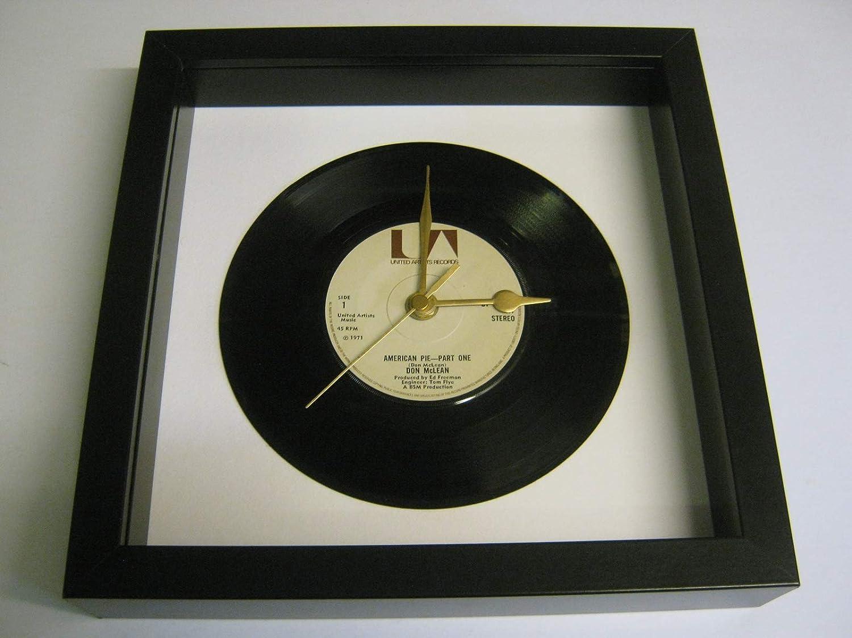 American Pie Framed 7 Vinyl Record Wall Clock Don McLean